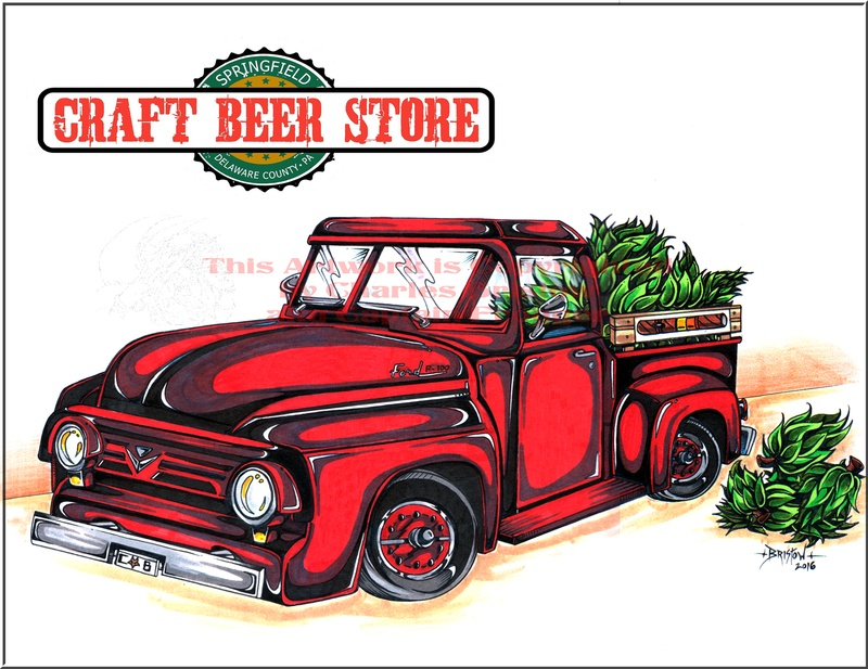 Craft Beer Store Custom Ford Truck Artwork